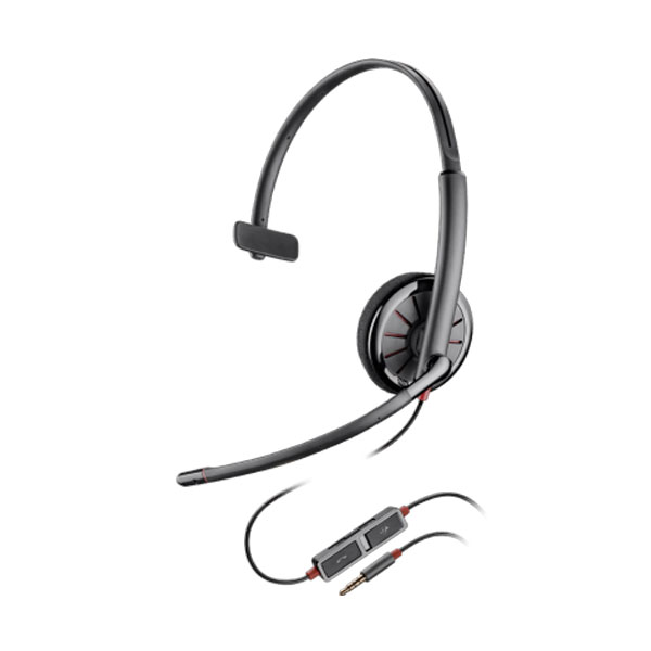 Plantronics Blackwire 225 Over The Head Monaural Corded Headset