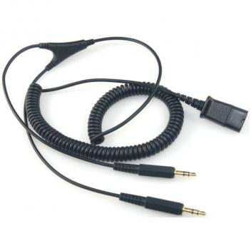 Jabra Quick Disconnect to Dual 3.5mm Jack for PC