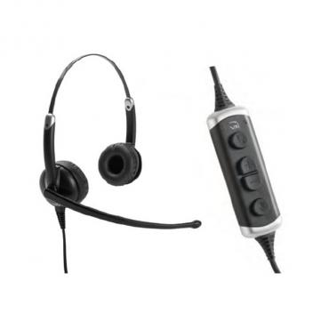 VXI Envoy UC 3031U Stereo USB Headset with Microphone Volume DSP Unified Communications Box