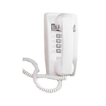 Cortelco Wall Phone with Volume - White