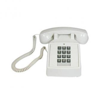 Cortelco Desk Phone with Volume - White
