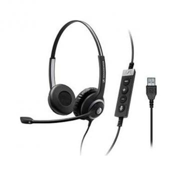 Two-Sided Pro Comm Headset with USB & Microphone Skype for Business
