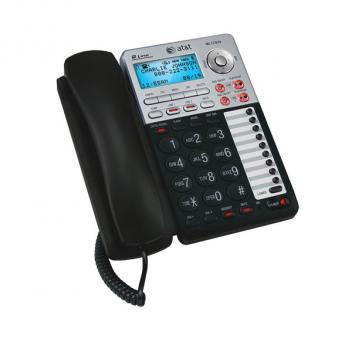 AT&T ML17939 2-Line Corded Office Phone System with Answering Machine and Caller ID/Call Waiting