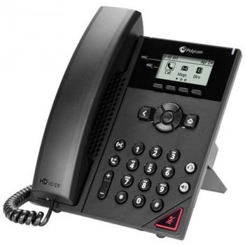 Polycom VVX 150 2-line phone with power supply