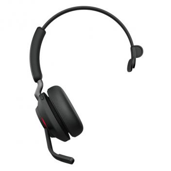 Jabra Evolve2 65 Link 380A UC Mono Bluetooth Wireless Headset - Black