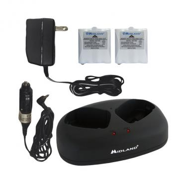 Midland Radio Desktop Charger, Batteries, Adapter