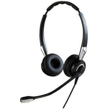 Jabra BIZ 2400 II Duo IP Corded Headset with Noise-Cancelling Microphone