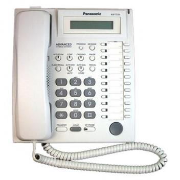 Panasonic KX-T7731 1-Line LCD 24 Button Speakerphone Telephone - White