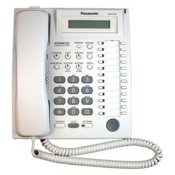 Panasonic KX-T7731 1-Line LCD 24 Button Speakerphone Telephone - White
