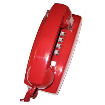 Cortelco Value Line VOE Wall Phone - Red