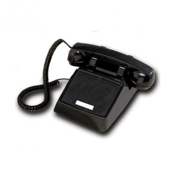 Cortelco No Dial Desk Phone - Black
