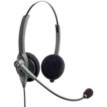 VXI Passport 21V DC Over-the-head Binaural Headset with DC N/C Microphone - Box