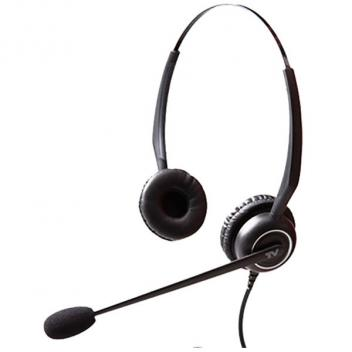Cortelco Noise Cancelling Binaural Wired Headset