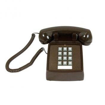 Cortelco Desk Telephone with Volume - Brown