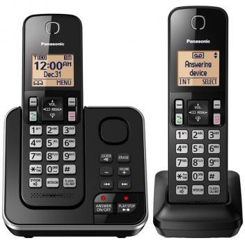 Panasonic KX-TGC362B DECT 6.0 Expendable Digital Cordless Phones