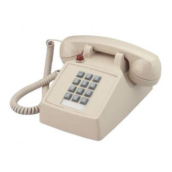 Cortelco Desk Telephone with Message Waiting Light - Ash