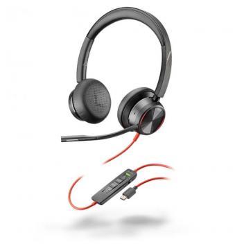 Plantronics Blackwire 8225M USB-C Corded Headset - Black