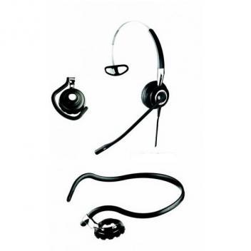 Jabra BIZ 2400 II 3-in-1 Mono Noise Cancelling USB Corded Headset Microsoft Lync/OC