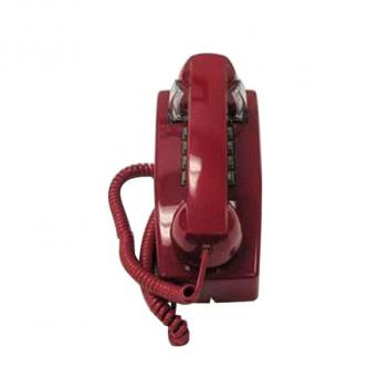 Cortelco Tone Dial ValueLine Wall Phone - Red