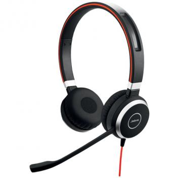 Jabra Evolve 40 Duo Corded Headset Without Controller