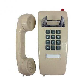 Cortelco Wall Phone with Message Light - Ash