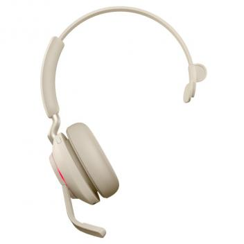 Jabra Evolve2 65 Link 380A MS Mono Bluetooth Wireless Headset - Beige