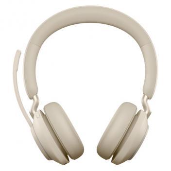 Jabra Evolve2 65 Link 380A MS Stereo Bluetooth Wireless Headset - Beige