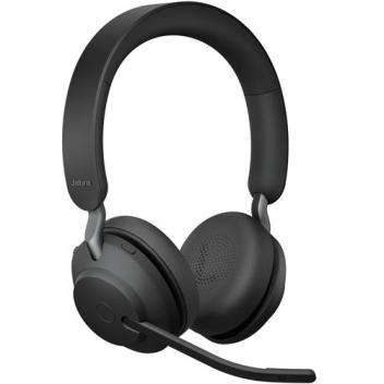 Jabra Evolve2 65 Link 380A MS Stereo Wireless Bluetooth Headset - Black