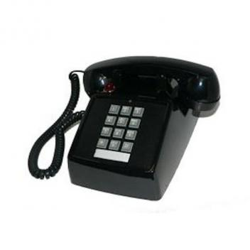 Cortelco Desk Telephone Black with Ringer Light