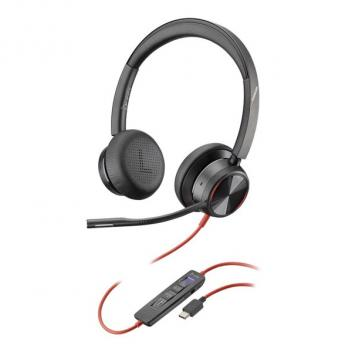Plantronics Blackwire 8225 USB-C Corded Headset - Black