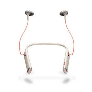 Plantronics Voyager 6200 UC Neckband Wireless Headset with Earbuds - Sand