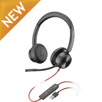 Plantronics Blackwire 8225 USB-A Corded Headset - Black
