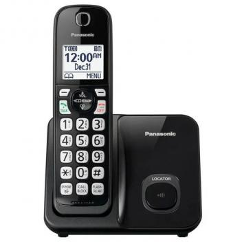 Panasonic KX-TGD510B Single Cordless Handset Telephone in Black