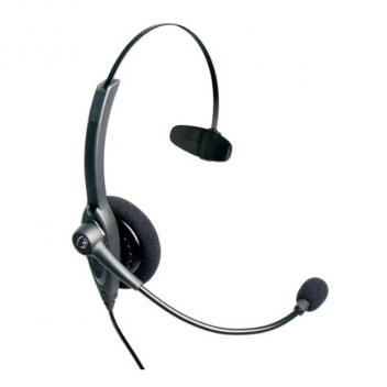 VXI Passport 10V DC Over-the-head Mono Headset With DC N/C Microphone - Bulk