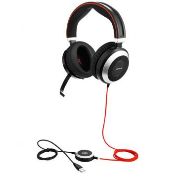 Jabra Evolve 80 Stereo USB UC Corded Headset