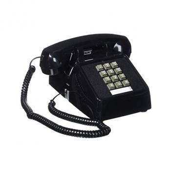 Cortelco Sinlge Line Desk Black Telephone