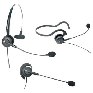 VXi Tria P Convertible Mono Headset with N/C Microphone & P Style QD