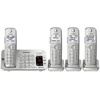 Panasonic KX-TGE474S DECT 6.0 Digital Expandable Cordless Handsets