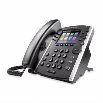 Polycom VVX 411 12-line phone with power supply