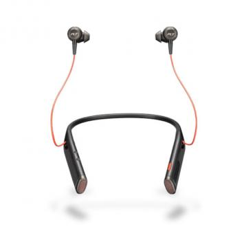 Plantronics Voyager 6200 UC Neckband Bluetooth Headset with Earbuds - Black