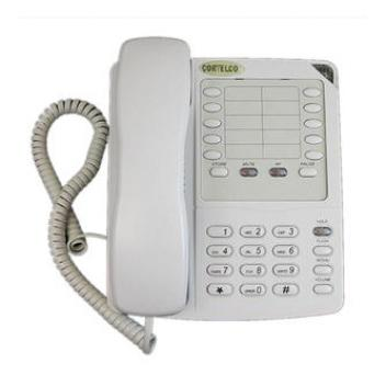 Cortelco Colleague with SP EN FT Corded Phone - White