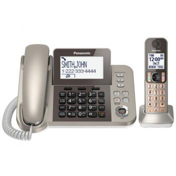 Panasonic KX-TGF350N Gold Corded/Cordless Phone - 1HS