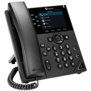 Polycom VVX 350 6-line IP Phone, POE