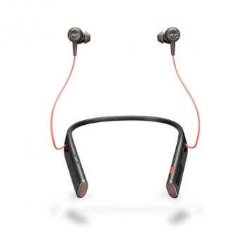 Plantronics Voyager 6200 UC USB-C Neckband Bluetooth Headset with Earbuds - Black