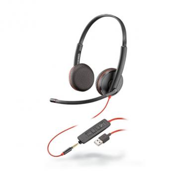Plantronics Blackwire 3225 USB-A Stereo Wired Headset