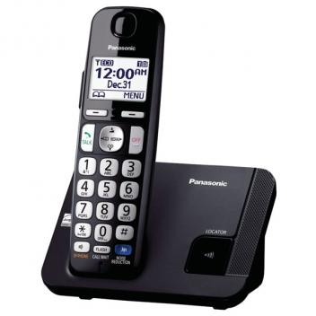 Panasonic KX-TGE210B DECT 6.0 Single Cordless Handset