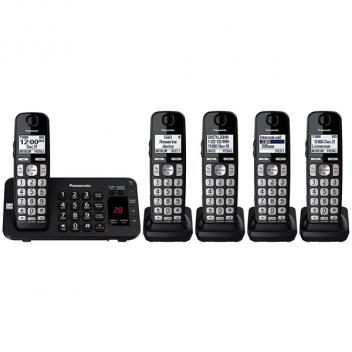 Panasonic KX-TGE445B Backlit LCD Display Cordless Handsets