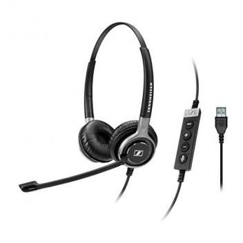 Sennheiser Dual-sided bluetooth headset and USB cable