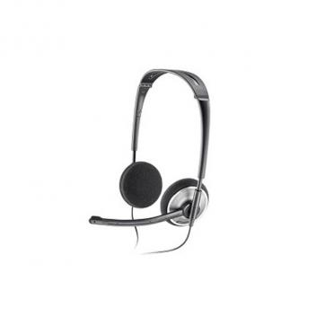 Plantronics .Audio 478 Fold Flat Duo Noise-Cancelling USB Computer Corded Headset