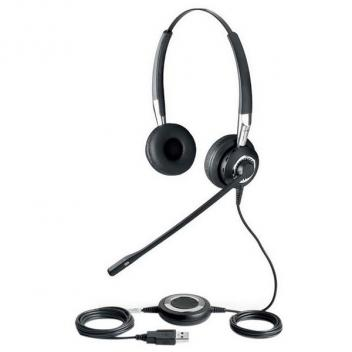 Jabra BIZ 2400 II Duo Noise-Cancelling Microphone USB Corded Headset